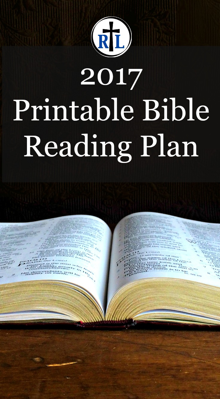 2017 Bible Reading Plan. Click through for a Printable Check-Off Sheet.
